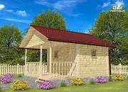 Проект баня 3х4 с террасой