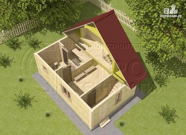 Фото 4: проект баня 4х6 из бруса