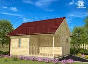 Проект брусовая баня 5х6 с террасой