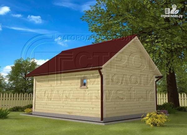 Фото 3: проект брусовая баня 5х6 с террасой