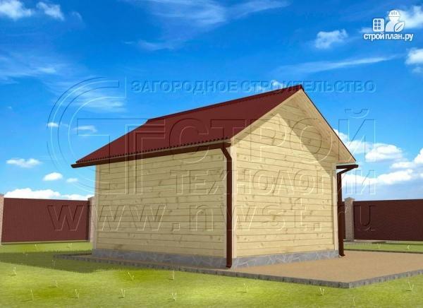 Фото 3: проект баня 4х5 с террасой