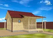Проект баня 4х5 с террасой