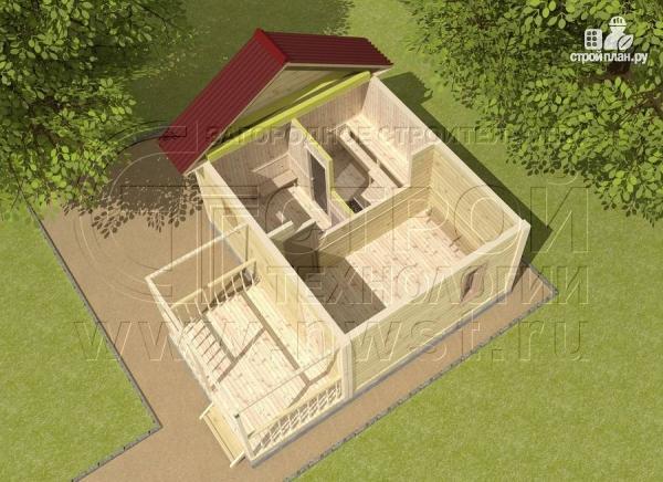 Фото 4: проект баня 4х5 с террасой