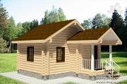Фото: дом из оцилиндрованного бревна