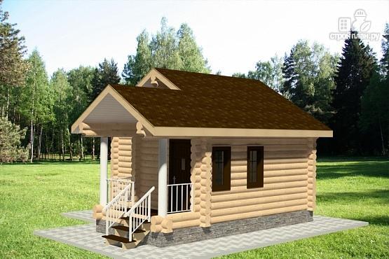 Фото 2: проект дом из оцилиндрованного бревна