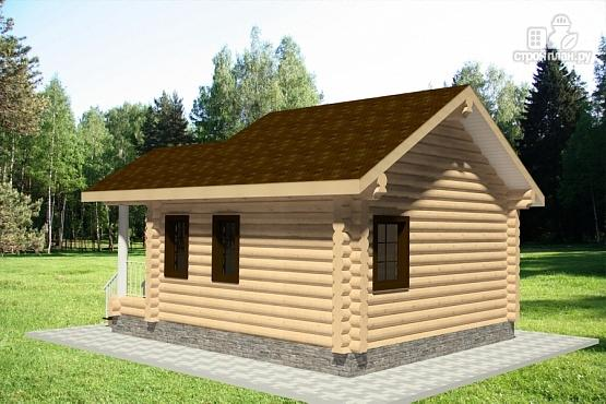 Фото 3: проект дом из оцилиндрованного бревна