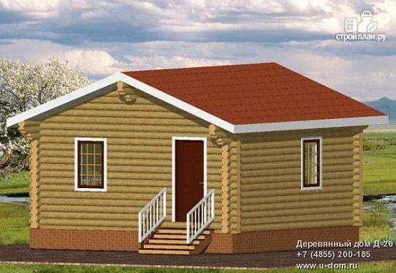 Фото: проект одноэтажный дом из оцилиндрованного бревна