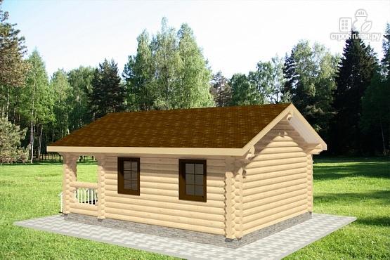 Фото 3: проект бревенчатый дачный дом