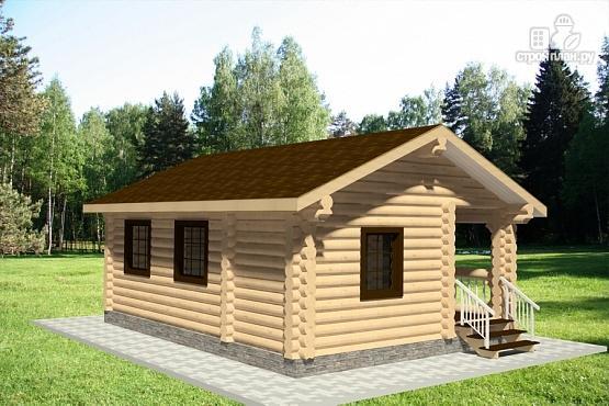 Фото 2: проект бревенчатый дачный дом
