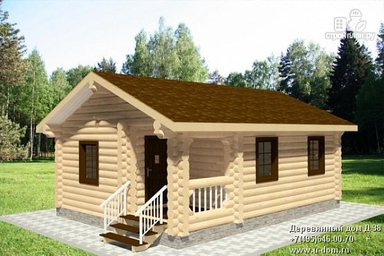 Фото: проект бревенчатый дачный дом