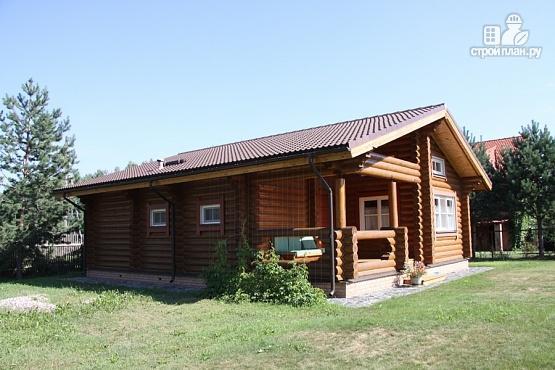 Фото 2: проект бревенчатый дом с террасой