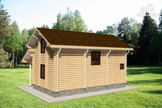 Фото 4: проект дом из бревна с крыльцом