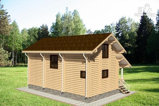 Фото 3: проект дом из бревна с крыльцом