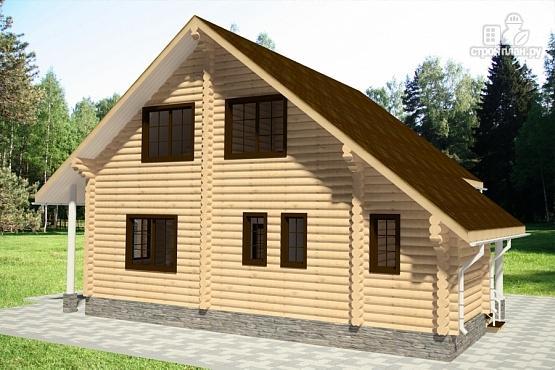 Фото 4: проект бревенчатый дом с мансардным этажом