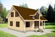 Проект бревенчатый дом с мансардным этажом