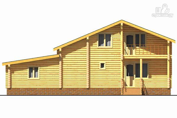 Фото 4: проект деревянный двухэтажный дом с гаражом, тренажерным залом и кабинетом