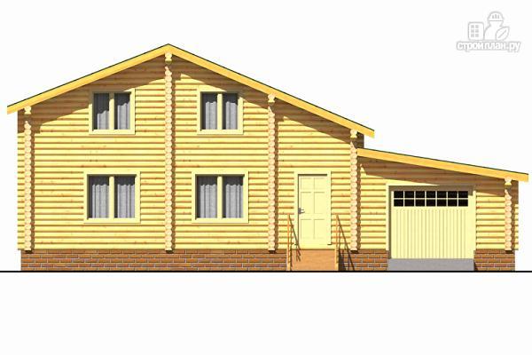 Фото 2: проект деревянный двухэтажный дом с гаражом, тренажерным залом и кабинетом