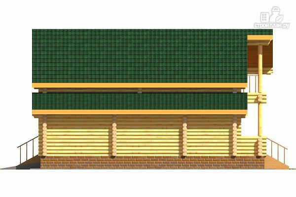 Фото 3: проект деревянный двухэтажный дом с гаражом, тренажерным залом и кабинетом
