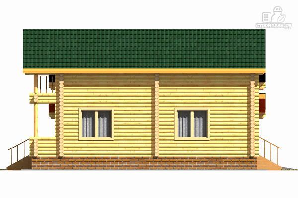 Фото 5: проект деревянный двухэтажный дом с гаражом, тренажерным залом и кабинетом