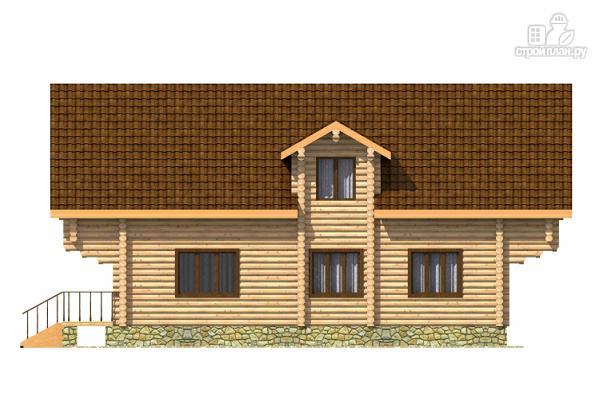 Фото 3: проект дом из цилиндрического бревна с четырьмя спальными комнатами