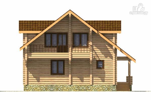 Фото 4: проект дом из цилиндрического бревна с четырьмя спальными комнатами