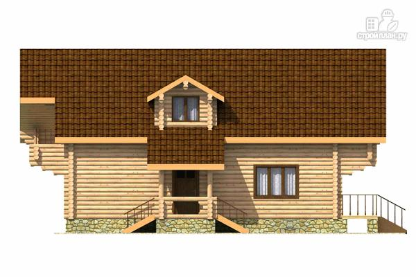 Фото 5: проект дом из цилиндрического бревна с четырьмя спальными комнатами