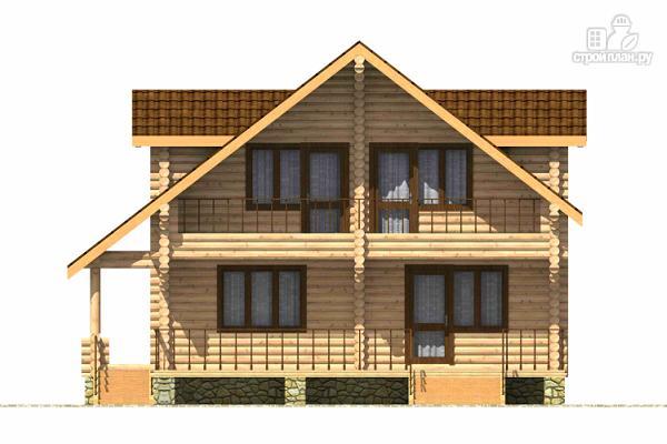 Фото 2: проект дом из цилиндрического бревна с четырьмя спальными комнатами