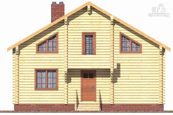 Фото 4: проект бревенчатый дом с террасой и четырьмя спальнями