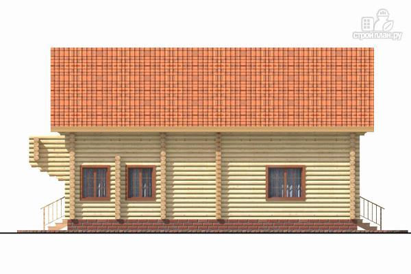 Фото 3: проект бревенчатый дом с террасой и четырьмя спальнями