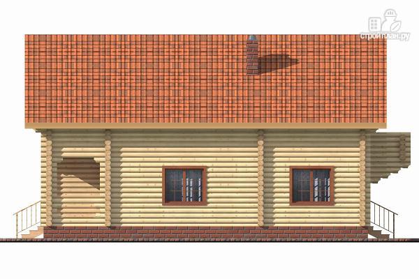 Фото 5: проект бревенчатый дом с террасой и четырьмя спальнями