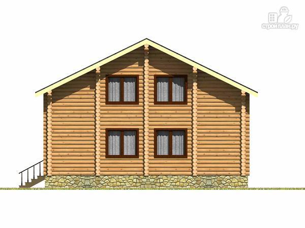 Фото 4: проект дом из бревна с четырьмя спальнями и гардеробной