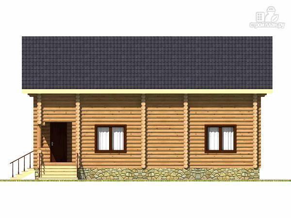 Фото 3: проект дом из бревна с четырьмя спальнями и гардеробной