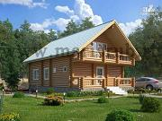Проект деревянный загородный дом с котельной