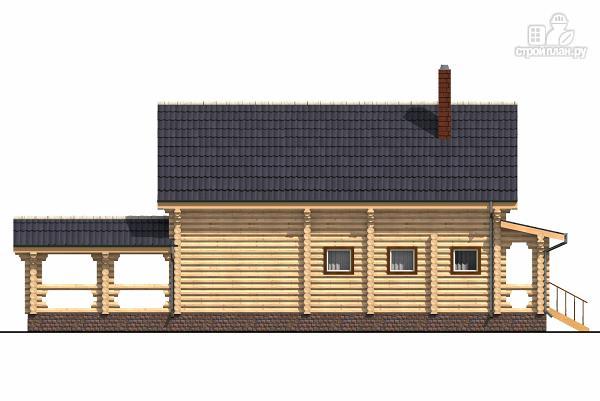 Фото 3: проект бревенчатый двухэтажный дом с холлом «второй свет»