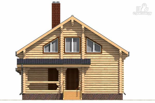 Фото 4: проект бревенчатый двухэтажный дом с холлом «второй свет»