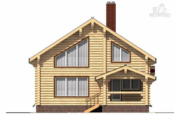 Фото 2: проект бревенчатый двухэтажный дом с холлом «второй свет»