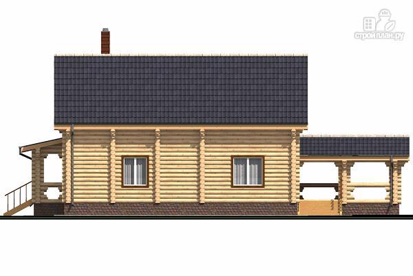 Фото 5: проект бревенчатый двухэтажный дом с холлом «второй свет»