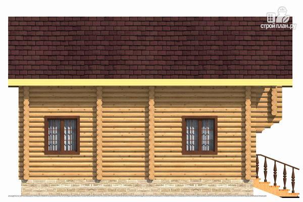 Фото 3: проект компактный дом с совмещенными гостиной и кухней-столовой