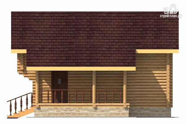 Фото 5: проект компактный дом с совмещенными гостиной и кухней-столовой
