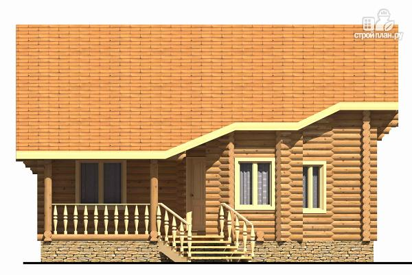 Фото 3: проект двухэтажный дом из цилиндрического бревна с эркером