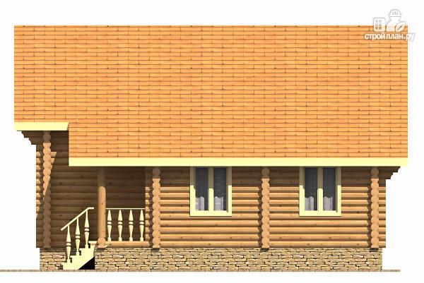 Фото 5: проект двухэтажный дом из цилиндрического бревна с эркером