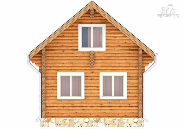 Фото 4: проект дачный домик с двумя спальнями и небольшой террасой