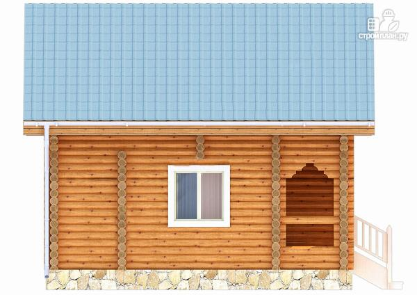 Фото 3: проект дачный домик с двумя спальнями и небольшой террасой