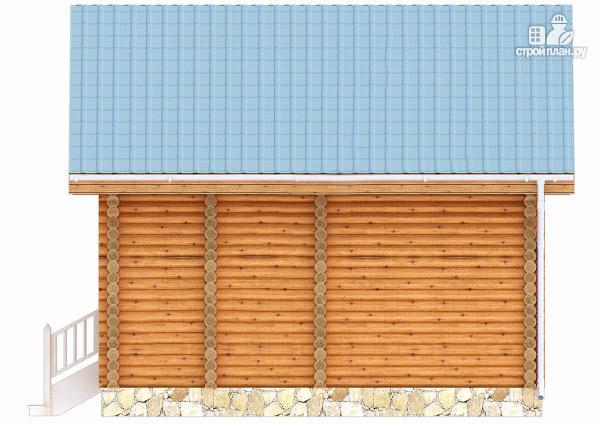 Фото 5: проект дачный домик с двумя спальнями и небольшой террасой