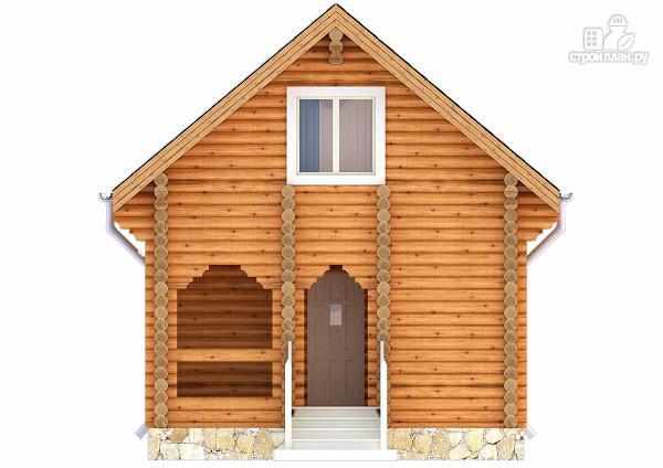 Фото 2: проект дачный домик с двумя спальнями и небольшой террасой