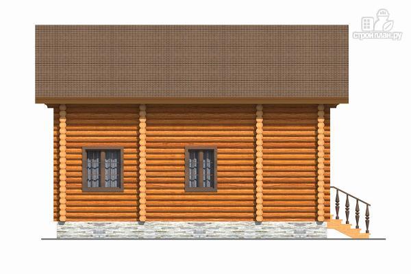 Фото 3: проект бревенчатый дом с тремя спальнями