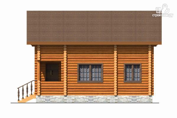 Фото 5: проект бревенчатый дом с тремя спальнями