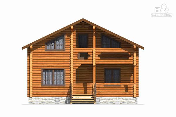 Фото 2: проект бревенчатый дом с тремя спальнями