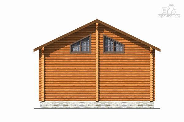 Фото 4: проект бревенчатый дом с тремя спальнями