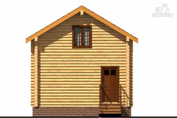 Фото 2: проект небольшой двухэтажный деревянный домик на две спальни